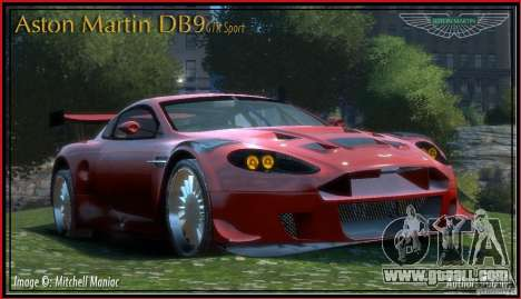 Aston Martin DB9 GTR SPORT [NFS Undercover] for GTA 4