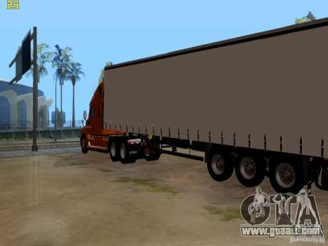 Freightliner Cascadia for GTA San Andreas back left view