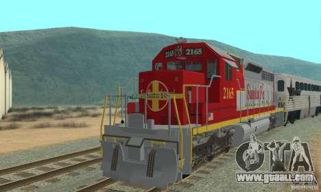 SD40 Santa Fe for GTA San Andreas