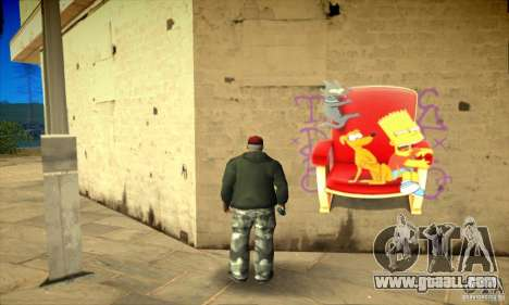 Simpson Graffiti Pack v2 for GTA San Andreas eighth screenshot