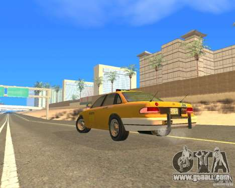 Taxi from GTAIV for GTA San Andreas left view