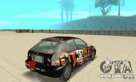 Honda-Superpromotion for GTA San Andreas left view