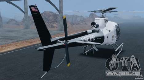 Eurocopter AS350 Ecureuil (Squirrel) for GTA 4 back left view