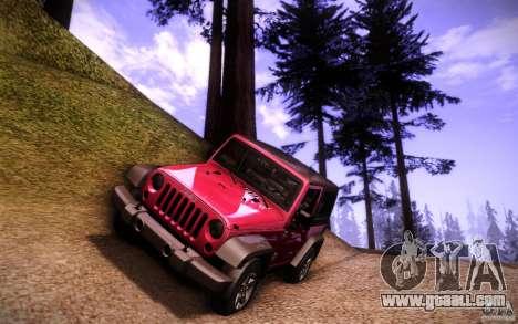 Jeep Wrangler Rubicon 2012 for GTA San Andreas bottom view