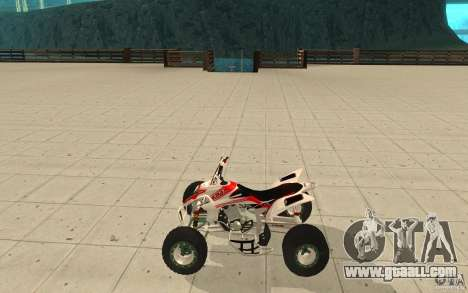 Yamaha YFZ 450 SuperCross Skin 5 for GTA San Andreas left view