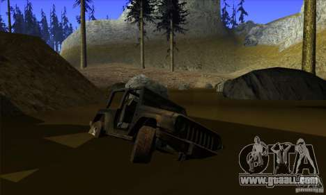 Jeep Wrangler for GTA San Andreas bottom view