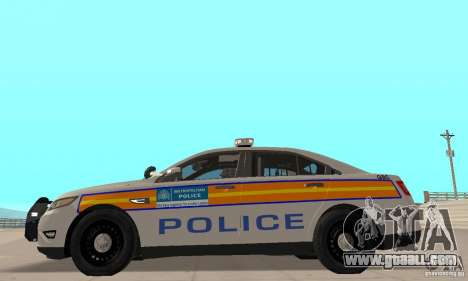 Ford Taurus 2011 Metropolitan Police Car for GTA San Andreas