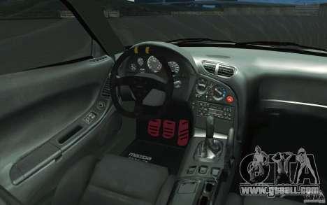 Mazda FD3S - Ebisu Style for GTA San Andreas upper view