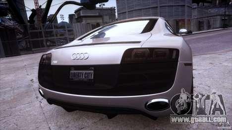 Audi R8 V10 for GTA 4 inner view