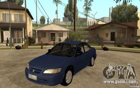 Honda Accord 2001 beta1 for GTA San Andreas