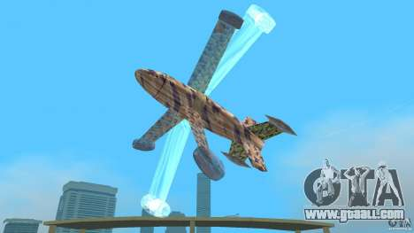 Conceptual Fighter Plane for GTA Vice City back view