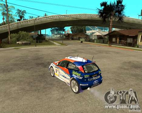 Ford Focus WRC 2002 for GTA San Andreas left view