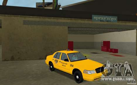 Ford Crown Victoria Taxi for GTA Vice City back view