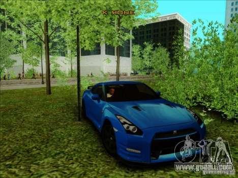 Nissan GTR Egoist 2011 for GTA San Andreas back left view