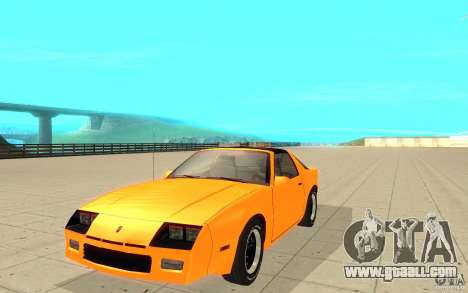 Chevrolet Camaro 1986 Targa Top for GTA San Andreas
