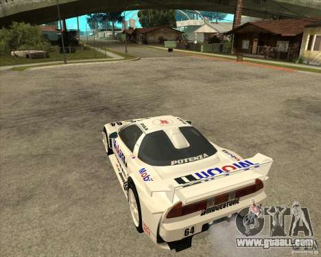 2001 Honda Mobil 1 NSX JGTC for GTA San Andreas left view