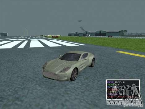 Aston Martin One 77 2011 for GTA San Andreas