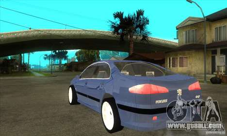 Peugeot 607 for GTA San Andreas back left view