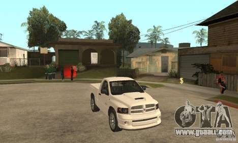 Dodge Ram SRT 10 for GTA San Andreas