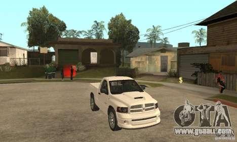 Dodge Ram SRT 10 for GTA San Andreas back view