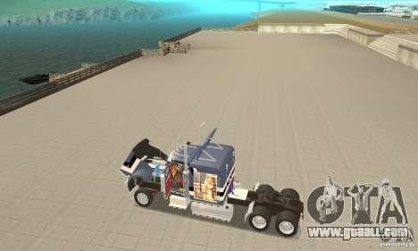 Peterbilt 359 for GTA San Andreas back view