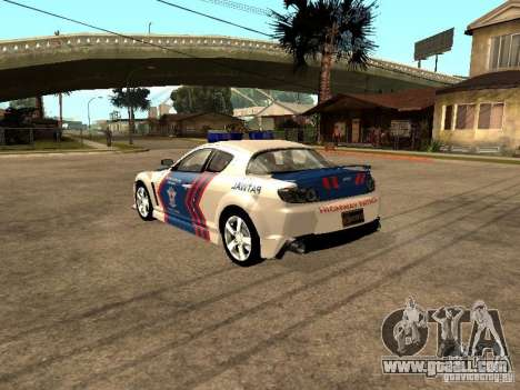 Mazda RX-8 Police for GTA San Andreas right view