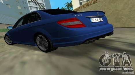 Mercedes-Benz C63 AMG 2010 for GTA Vice City left view