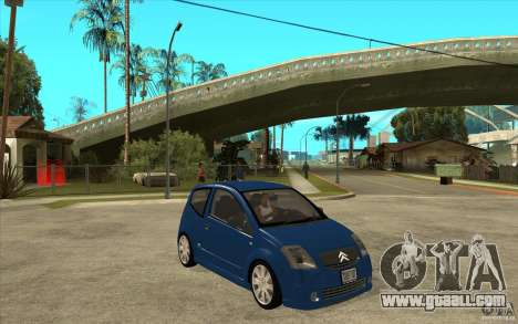 Citroen C2 - Stock for GTA San Andreas back view