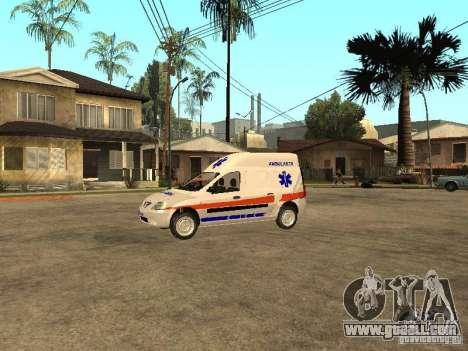 Dacia Logan Ambulanta for GTA San Andreas left view