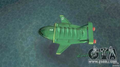 ThunderBird 2 for GTA Vice City back left view