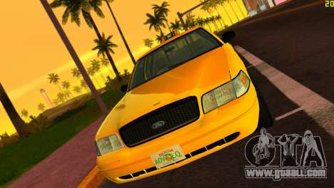 Ford Crown Victoria Taxi 2003 for GTA Vice City left view