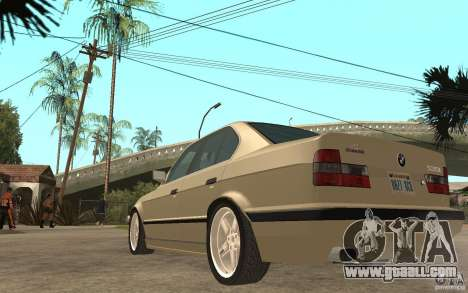 BMW 535i e34 AC Schnitzer for GTA San Andreas back left view