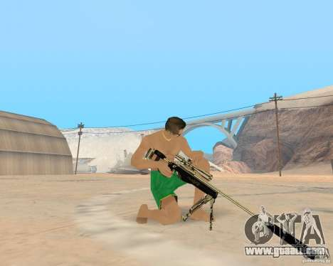 Gold weapons pack for GTA San Andreas forth screenshot