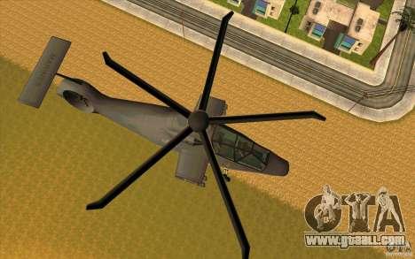 Sikorsky RAH-66 Comanche default grey for GTA San Andreas left view