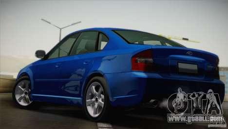 Subaru Legacy 2004 v1.0 for GTA San Andreas back left view