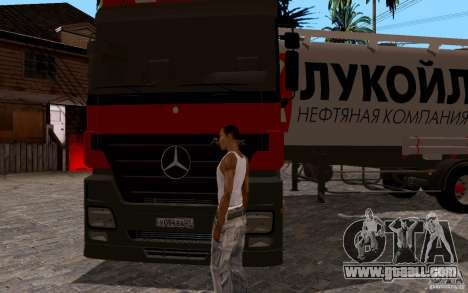 Mercedes-Benz Actros Lukoil for GTA San Andreas back view