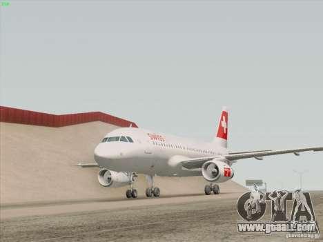 Airbus A319-112 Swiss International Air Lines for GTA San Andreas interior