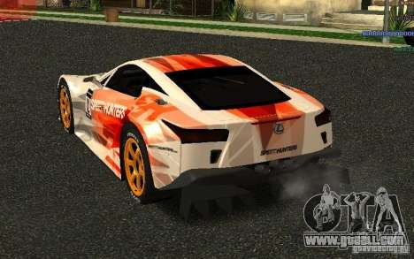 Lexus LFA Speedhunters Edition for GTA San Andreas back left view