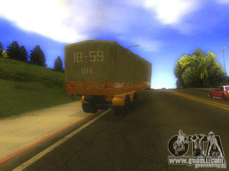 Trailer MAZ 5205 for GTA San Andreas right view