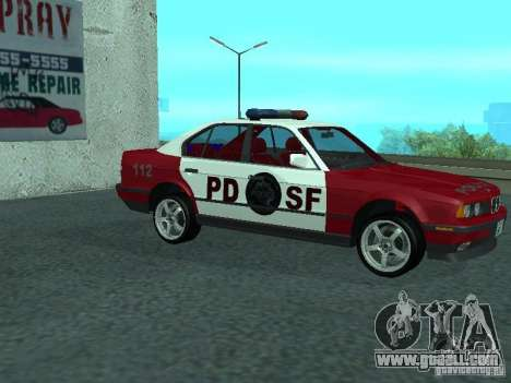 BMW 535i E34 Police for GTA San Andreas back left view