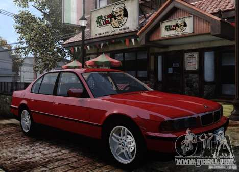 BMW 750i E38 1998 M-Packet for GTA 4 upper view