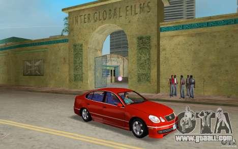 Lexus GS430 for GTA Vice City back view