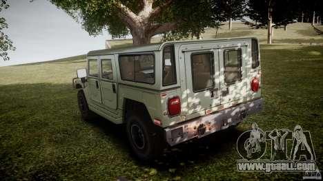 Hummer H1 Original for GTA 4 back left view