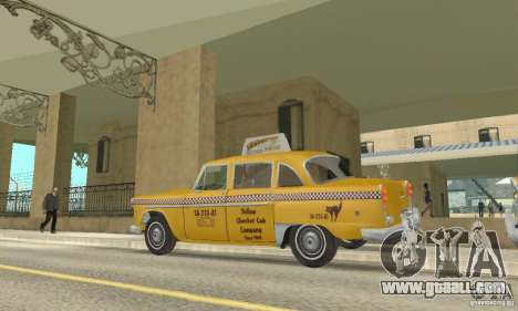 Checker Marathon 1977 Taxi for GTA San Andreas right view
