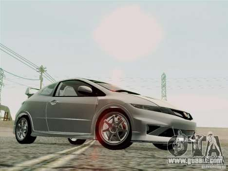 Honda Civic TypeR Mugen 2010 for GTA San Andreas upper view