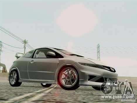 Honda Civic TypeR Mugen 2010 for GTA San Andreas upper view