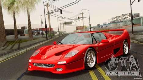 Ferrari F50 v1.0.0 Road Version for GTA San Andreas back left view