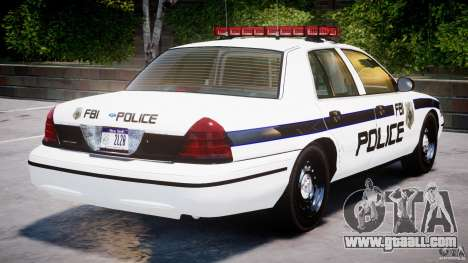 Ford Crown Victoria 2003 FBI Police V2.0 [ELS] for GTA 4 engine