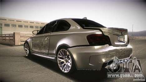 BMW 1M E82 Coupe 2011 V1.0 for GTA San Andreas bottom view