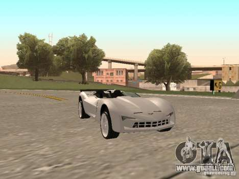 Chevrolet Corvette C7 Spyder for GTA San Andreas left view